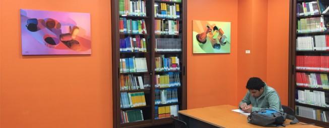 Alumno Marcos Vicencio expone en Biblioteca UDLA.